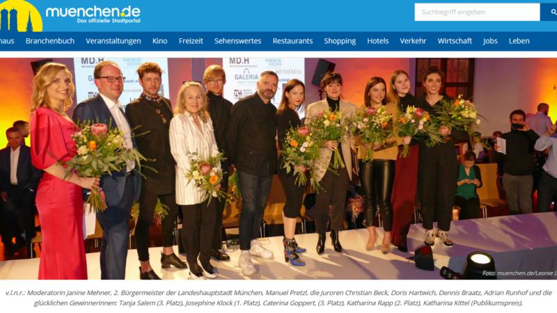 Moderation Münchner Modepreis, Bekanntgabe mit dem 2. Bürgermeister Manuel Pretzl